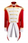 Preview: Uniform Fasching Soldat Napoleon Jacke Karnevalskostüm Party Gehrock Rot Weiß Gold New