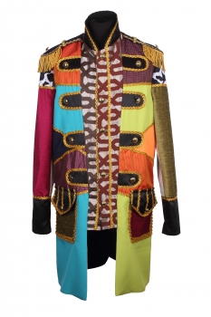 herren lappenkost m patchwork jacke karnevalskost m uniform fasching gehrock. Black Bedroom Furniture Sets. Home Design Ideas