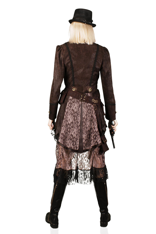 Hochwertige Steampunk Damen Jacke Gothic Karnevalskostüm