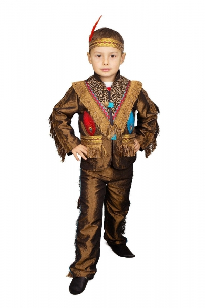 Karnevalshaus De Indianer Kinder Jacke Und Hose Kostum Jungen